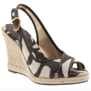 Banana Republic Animal Print Espadrille Wedges